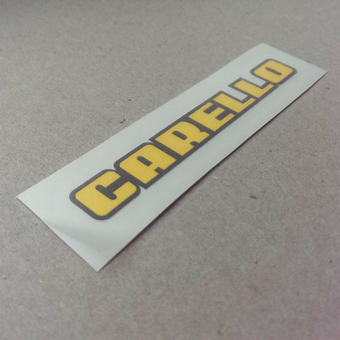 (New) Vintage 'CARELLO' Decal