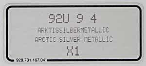(New) 911/993/996 Arctic Metallic Silver Paint Code Decal - 1995-2012