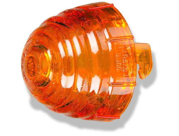 (New) 356 B/C Front Amber Beehive Turn Signal Lens - 1959-65