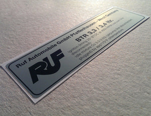 (New) RUF/BTR 3.3/3.4L Timing Decal