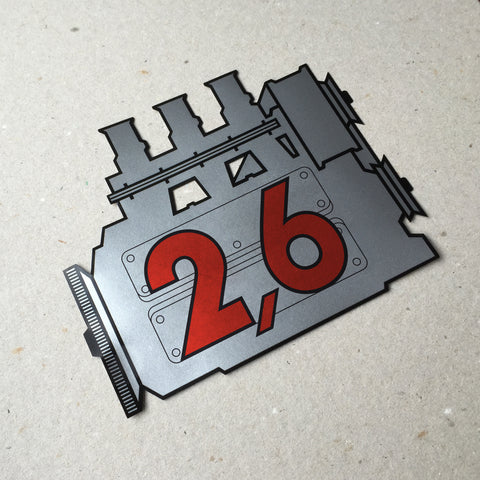 (New) 911 Rear Window 2.6L Engine Decal