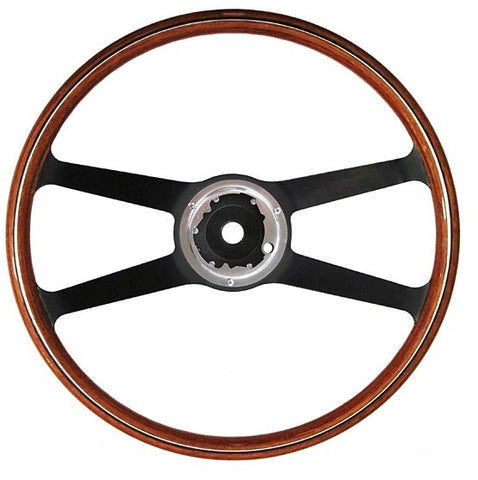 (New) 911/912 Wood and Steel 420mm VDM Steering Wheel - 1965-68