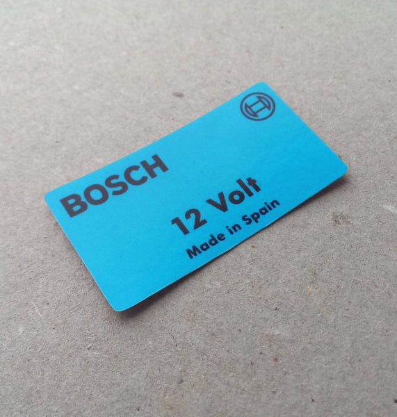(New) 911/912/914 Bosch 12v Decal 'Made in Spain' - 1966-76