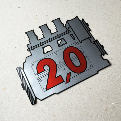 (New) 911 Rear Window 2.0L Engine Decal