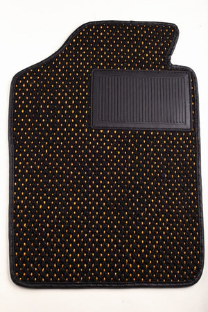 (New) #52 Black and Yellow (Gold) CoCo Mats - Two Piece or Four Piece