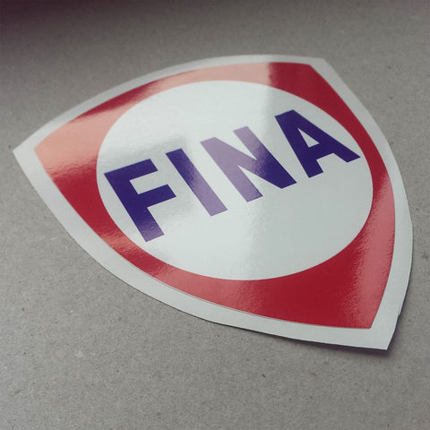(New) Vintage 'FINA' Decal