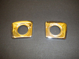 (New) 911 S Pair of Interior Door Handle Bezels - 1967