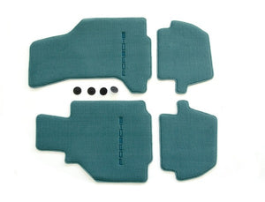 (New) 996 Cabriolet/Targa Set of Four Nephrite Green Floor Mats - 2002-05
