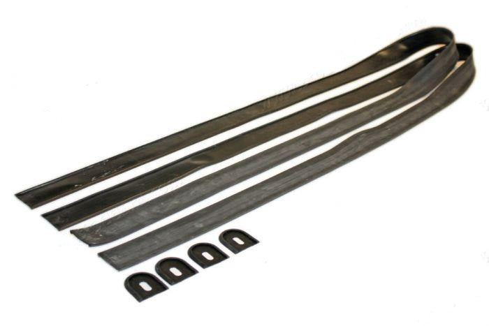 (New) 356 Pre-A/A Front and Rear Bumper Deco Base Gasket Set w/ End Pieces - 1950-59
