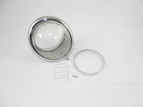 (New) 356 Clear Headlight Lens Assembly - 1950-65