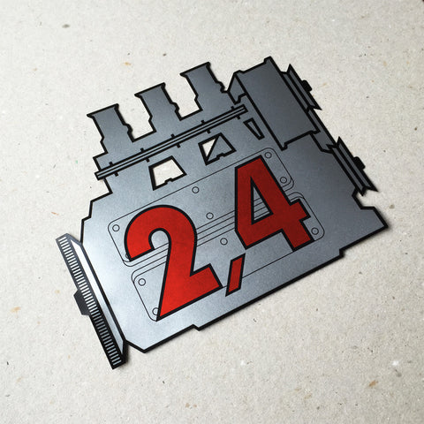 (New) 911 Rear Window 2.4L Engine Decal
