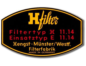 (New) 356/912 Original H-filter Oil Filter Decal - 1950-69
