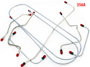 (New) 356 A Complete 7-Piece Brake Line Kit w/ Bridge Pipes - 1955-59