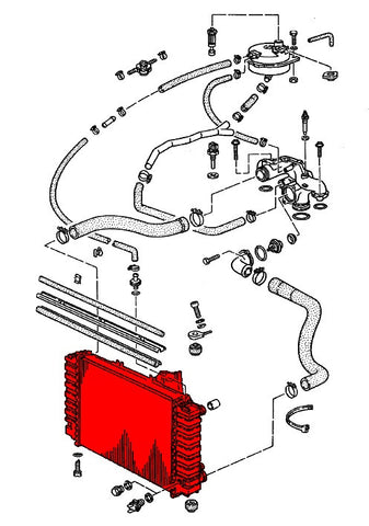 (New) 928 Radiator Manual Transmission - 1987-95