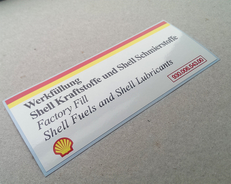 (New) 911/928 Shell Air Cleaner Decal - 1984-95