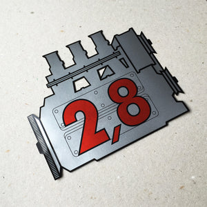 (New) 911 Rear Window 2.8L Engine Decal