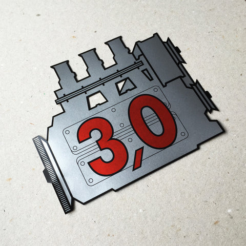 (New) 911 Rear Window 3.0L Engine Decal