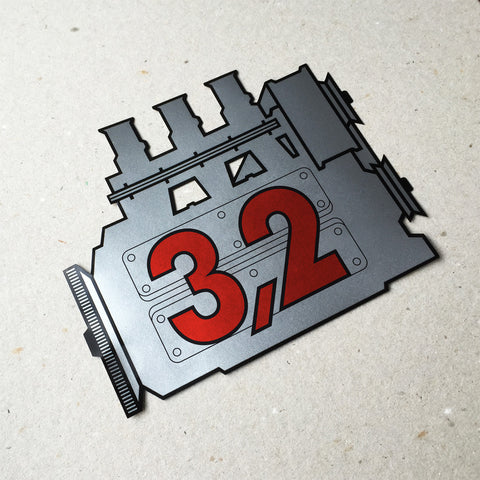(New) 911 Rear Window 3.2L Engine Decal