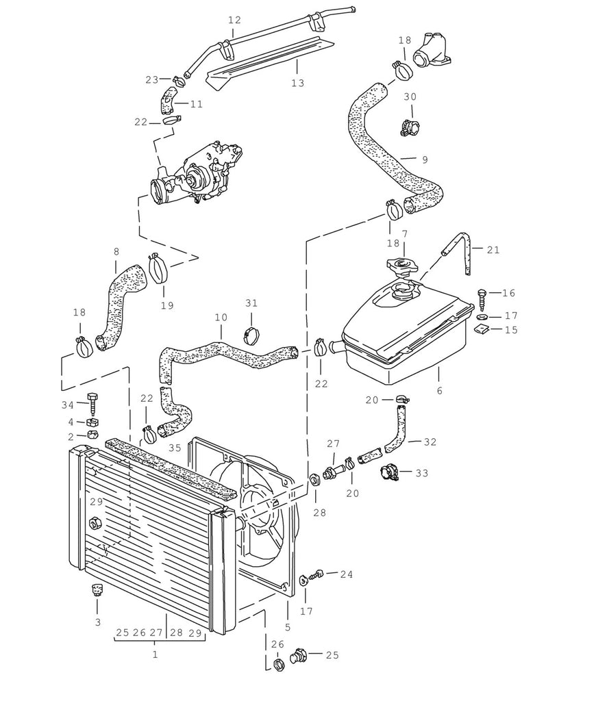 New 944 Water Pump To Heater Pipe Hose 1983 91 Aase Sales Porsche Boxster Engine Vacuum Diagram