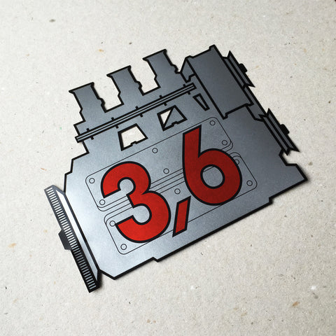 (New) 911 Rear Window 3.6L Engine Decal