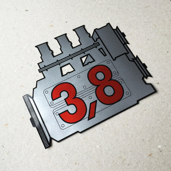 (New) 911 Rear Window 3.8L Engine Decal