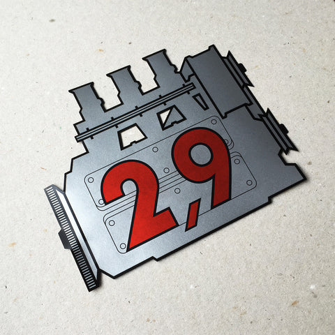 (New) 911 Rear Window 2.9L Engine Decal