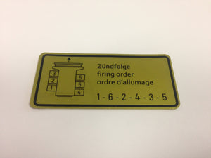 (New) 911 or 914/6 Firing Order Decal - 1965-78