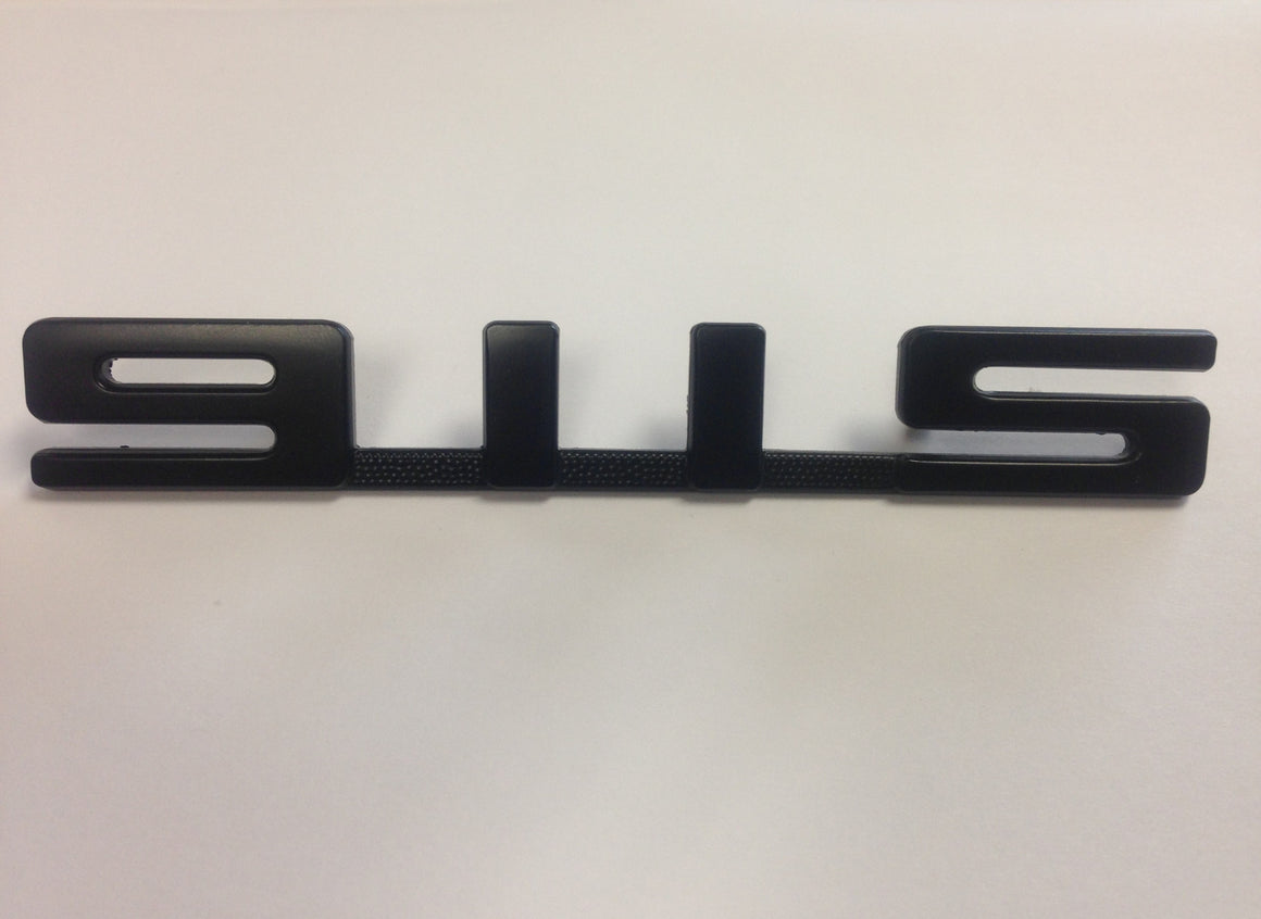 (New) 911S Rear Black Emblem for Engine Lid - 1972-75