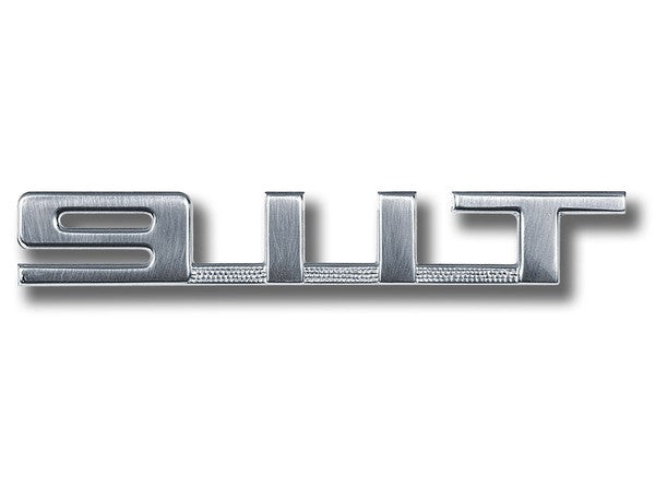(New) 911 T Silver Rear Engine Lid Emblem - 1969-73