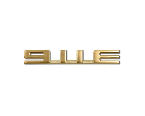 "(New) 911 Rear Engine Lid Gold ""911 E"" Emblem - 1965-71"