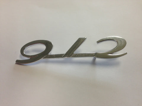 (New) Silver Engine Lid 912 Emblem - 1965-66
