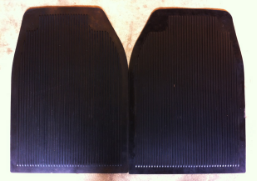 (New) 911/912 Rear Rubber Floor Mats - 1965-73
