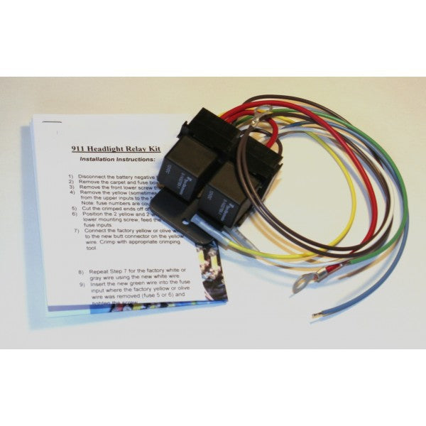 (New) 911/912/930 Headlight Relay Kit - 1965-89