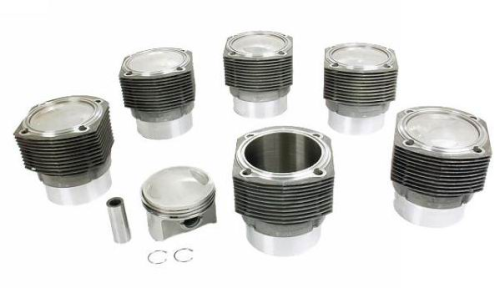 (New) 911E 2.4L Complete Set of 6 Pistons and Cylinders - 1972-73