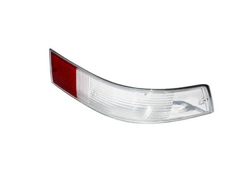 (New) Italian Right Side Tail Light Lens with Silver Trim - 1969-72