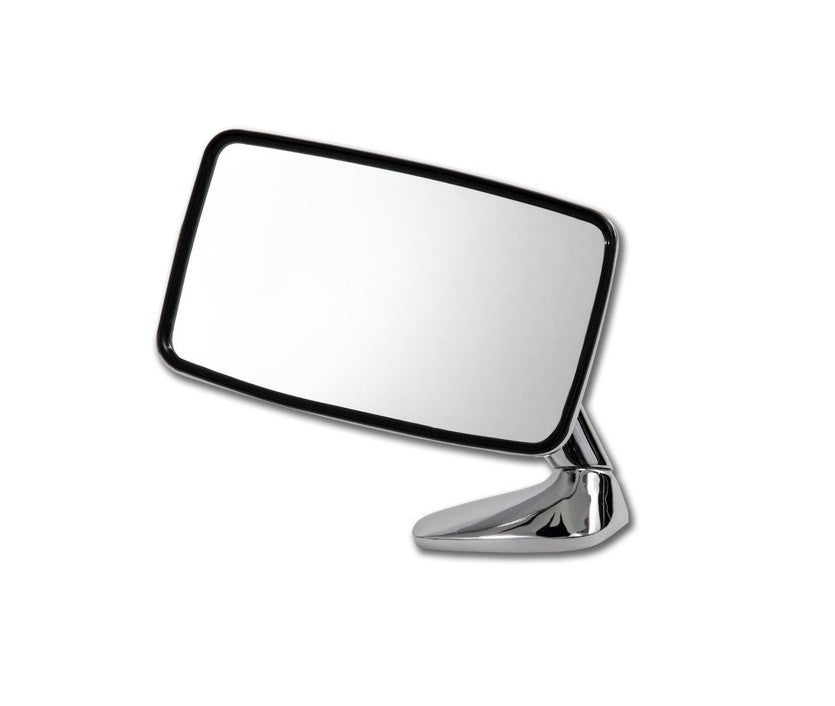 (New) 911/912E Left Side Chrome Flag Mirror - 1974-76