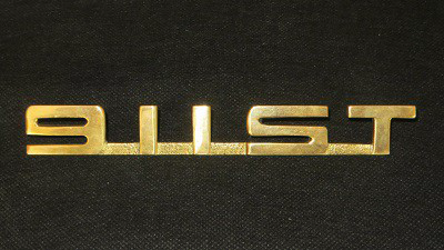 (New) '911ST' Gold Trunk Lid Script