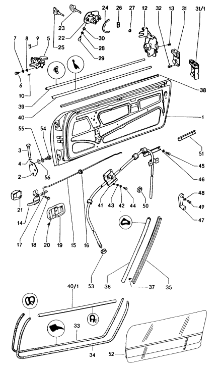 (New) 914 Door Seal Inner Left