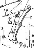 (New) 968 Cabriolet Folding Bow Left 1992-95