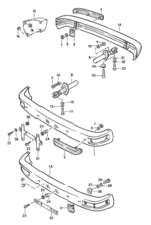 (New) 944, 968 Front Bumper Piping 1985-95