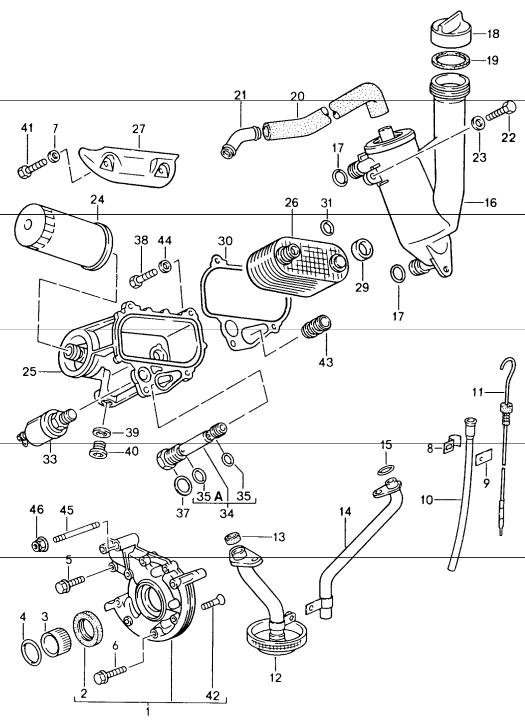 New 944 Oil Pump Toothed Sleeve 1983 4