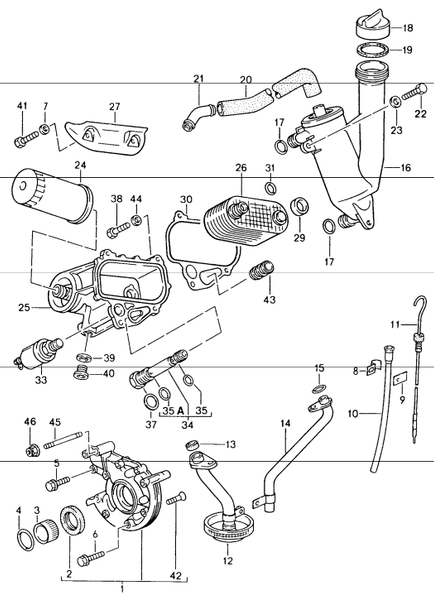 (New) 944 Oil Pump Toothed Sleeve 1983-85