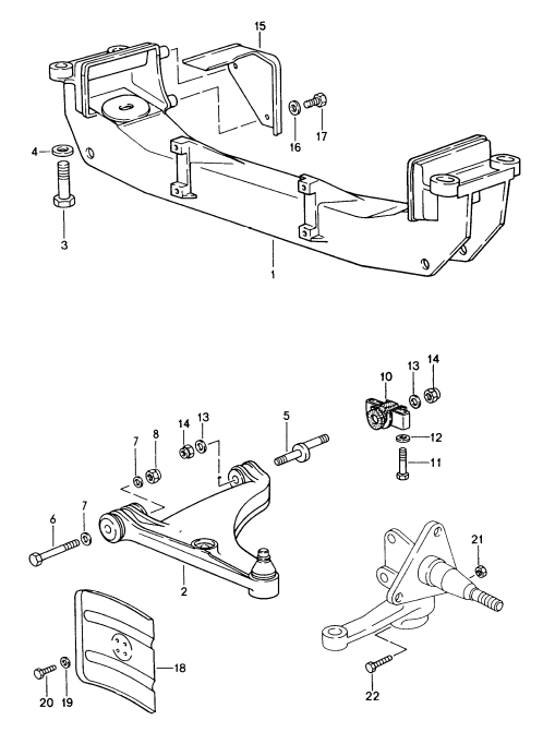 (New) 944/968 Control Arm Mount 1985-95