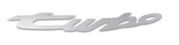(New) 944 Turbo Fender Decal Silver 1985-91