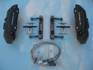 (New) Boxster to 911/912 Front Caliper Adapter Kit w/ Boxster Calipers - 1969-89