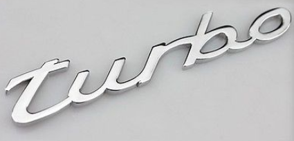 (New) 991 Turbo Emblem Chrome 2014-2015