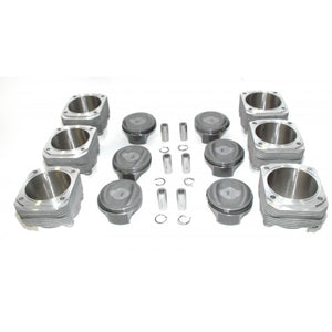 (New) 993 Turbo Complete Set of 6 Pistons and Cylinders - 1994-98