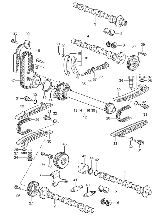New  911  Boxster  Cayman Timing Chain Guide Upper 1999-08
