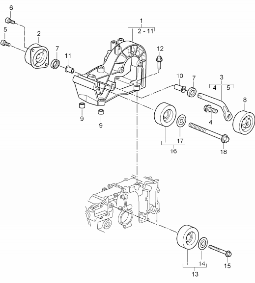 (New) 911/Boxster/Cayman Drive Belt Tensioner 1997-08