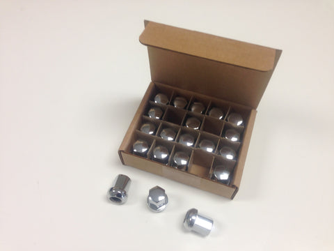 (New) Set of 20 Chrome Alloy Lug Nuts - Fuchs Wheel